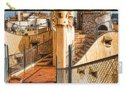Gaudi Fascinating La Pedrera Rooftop - Impressions Of Barcelona Carry-all Pouch
