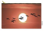 Geese Against The Sun Carry-all Pouch