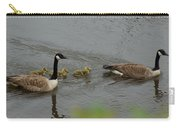 Geese And Goslings At The Flint River Carry-all Pouch