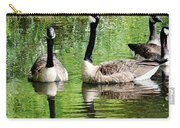 Geese And Green Carry-all Pouch