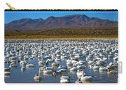 Geese At Bosque Del Apache Carry-all Pouch by Kurt Van Wagner
