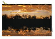 Geese Fly In The Sunset Carry-all Pouch