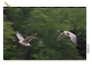 Geese Pair In Flight Carry-all Pouch