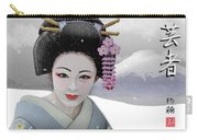 Geisha In Snow On Mt. Fuji Carry-all Pouch