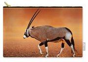 Gemsbok On Desert Plains At Sunset Carry-all Pouch