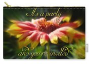 General Party Invitation - Blanket Flower Wildflower Carry-all Pouch by Mother Nature