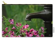 Gentle Rain - Old Water Pump - Pink Petunias - Casper Wyoming Carry-all Pouch