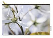 Gentle White Spring Flowers Carry-all Pouch by Elena Elisseeva