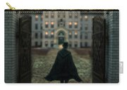Gentleman In Top Hat And Cape Walking Through Gates Carry-all Pouch