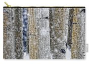 Gently Falling Forest Snow Carry-all Pouch