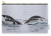 Gentoo Penguins Porpoising Paradise Bay Carry-all Pouch