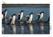 Gentoo Penguins Walking Carry-all Pouch by Hiroya Minakuchi