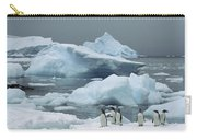 Gentoo Penguins With Icebergs Antarctica Carry-all Pouch