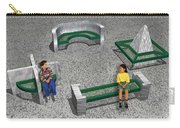 Geo Benches Carry-all Pouch by Peter Piatt