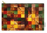 Geometric Abstract Quilted Meadow Carry-all Pouch