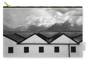 Geometric Architecture In Black And White Carry-all Pouch