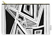 Geometric Doodle 2 Carry-all Pouch by Sarah Loft