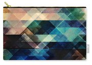 Geometric Textural Colorations Carry-all Pouch