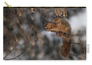 George Eating Maple Seeds In Winter Carry-all Pouch