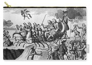 George IIi Cartoon, 1775 Carry-all Pouch