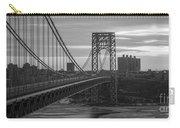 George Washington Bridge Frame Work Bw Carry-all Pouch