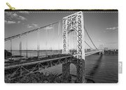 George Washington Bridge Nyc Bw Carry-all Pouch by Susan Candelario