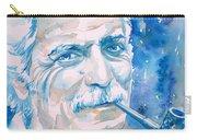 Georges Brassens - Watercolor Portrait Carry-all Pouch