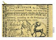 Georgia Banknote, 1777 Carry-all Pouch