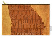 Georgia Word Art State Map On Canvas Carry-all Pouch by Design Turnpike