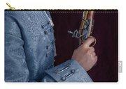 Georgian Man Holding A Flintlock Pistol Carry-all Pouch