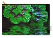 Geranium Leaves - Reflections On Pond Carry-all Pouch