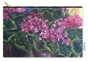 Geraniums Blooming Carry-all Pouch by Sherry Harradence