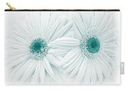 Gerber Daisy Flowers In Teal Carry-all Pouch