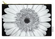 Gerbera Daisy Monochrome Carry-all Pouch by Adam Romanowicz