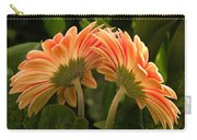 Gerbera Daisy Twins Carry-all Pouch