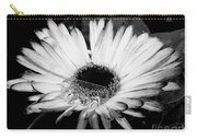 Gerbera In Black And White Carry-all Pouch