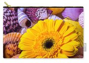 Gerbera With Seashells Carry-all Pouch