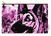 German Shepard In Purples Carry-all Pouch