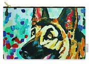 German Shepard Watercolor Carry-all Pouch