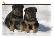 German Shepherd Pups Carry-all Pouch by Aimee L Maher Photography and Art Visit ALMGallerydotcom