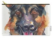 German Shepherd Watercolor Carry-all Pouch