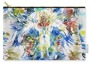 German Shepherd - Watercolor Portrait Carry-all Pouch