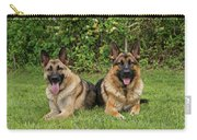 German Shepherds - Mother And Son Carry-all Pouch