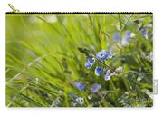 Germander Speedwell Carry-all Pouch by Anne Gilbert