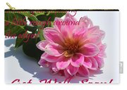 Get Well Soon - Louise Dahlia - Pink Flower Carry-all Pouch