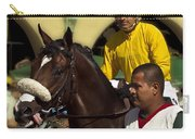 Getting Ready - Jockey And Horse For The Race Carry-all Pouch