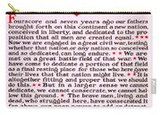 Gettysburg Address By Abraham Lincoln  Carry-all Pouch