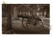 Gettysburg Cannon B W Carry-all Pouch