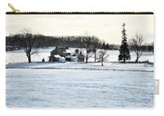 Gettysburg Farm In The Snow Carry-all Pouch