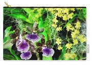 Geyser Jaimie And Golden Fantasy Orchids Carry-all Pouch